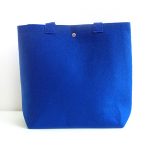 Blue Felt Tote Day Bag