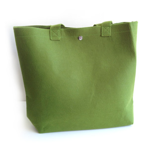 Green Felt Tote Day Bag