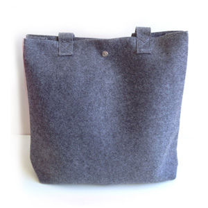 Grey Felt Tote Day Bag