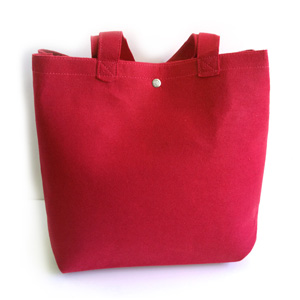 Red Felt Tote Day Bag