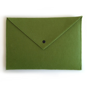 Green Envelope Laptop Sleeve