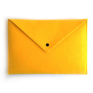 Yellow Envelope Laptop Sleeve