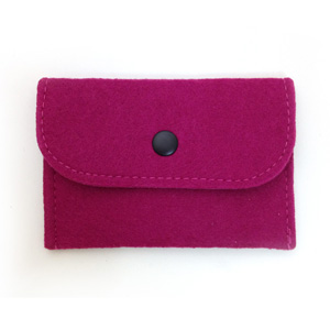 Fuchsia Felt Card Holder