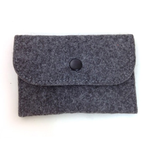 Grey Felt Card Holder