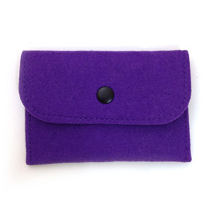Purple Felt Card Holder
