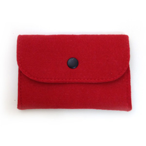 Red Felt Card Holder