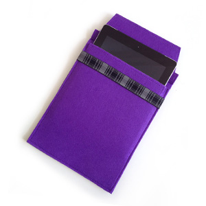 Purple Felt iPad Sleeve