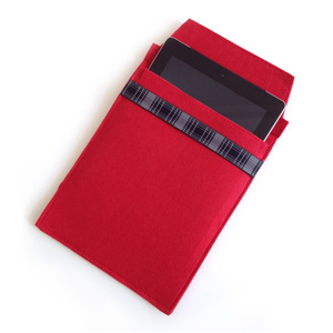 Red Felt iPad Sleeve