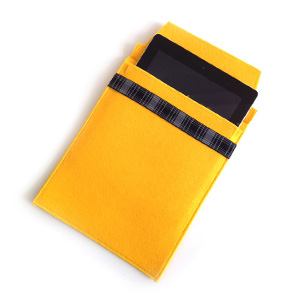 Yellow Felt iPad Sleeve